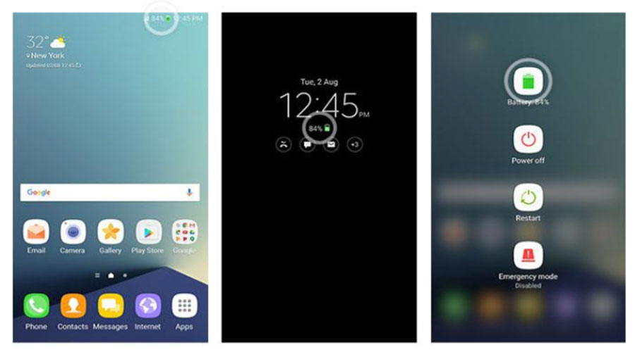 icône batterie Galaxy Note 7