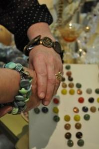 Antique Button Bracelets