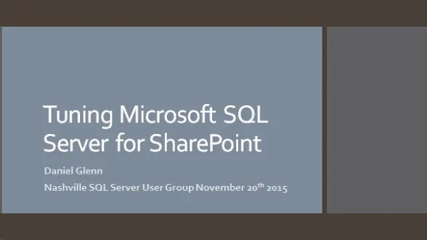 SQL User Group – November 20th 2015