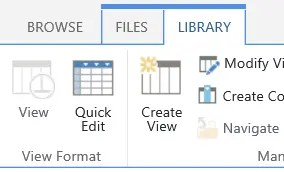 Quick Edit on Library Ribbon