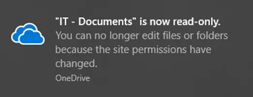 OneDrive Setting Files to Read Only