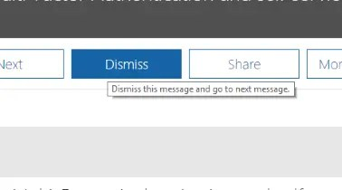Recovering Dismissed Messages in the 365 Message Center