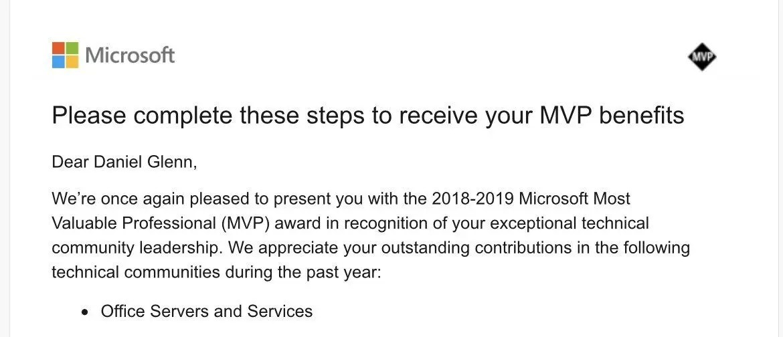 Microsoft MVP 2018