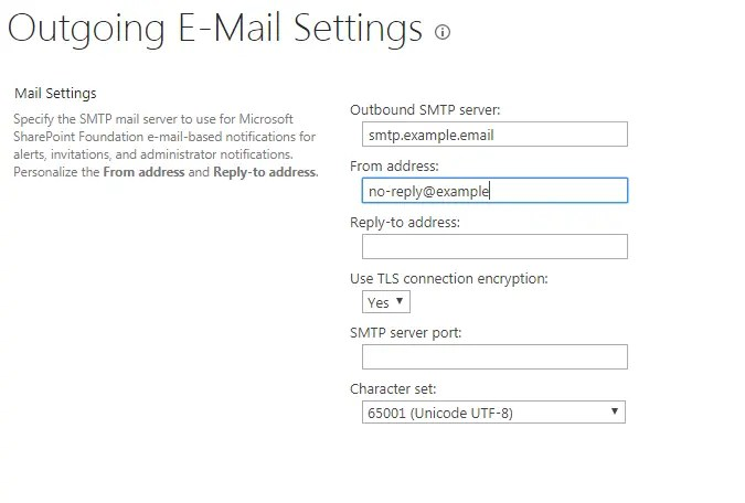 Configure e-mail settings in SharePoint