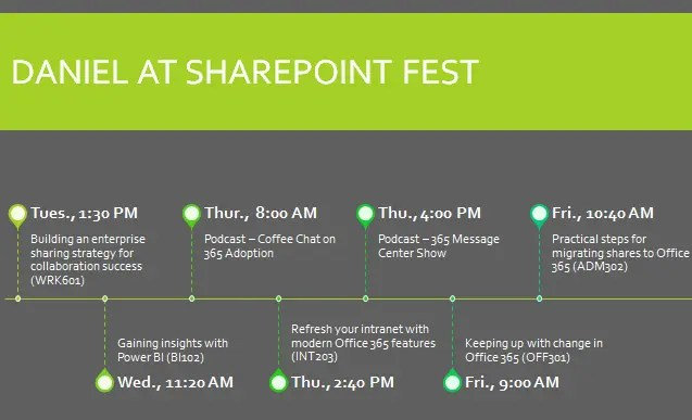SharePoint Fest Seattle 2019 schedule #SPFest