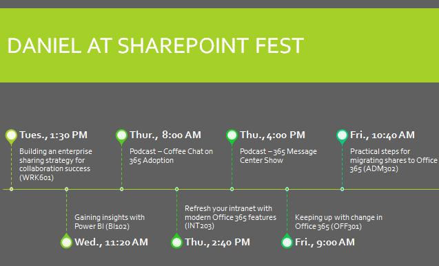 SharePoint Fest Seattle 2019 schedule #SPFest