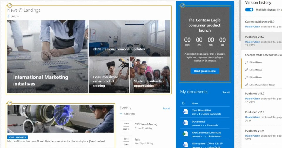 SharePoint Page Difference Visualization