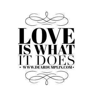 Love is what it does - Dear Dumplin