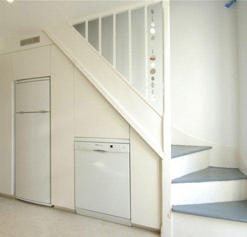 Perfect Kitchen Cabinets Under Stairs Interior Design