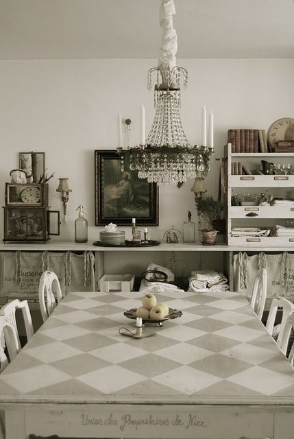 checkerboard table - pinterest