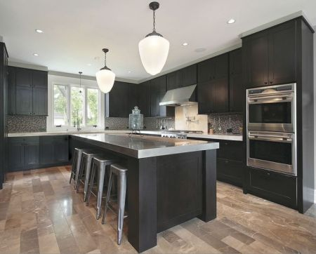 dark kitchen cabinetry
