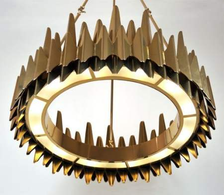 Palermo Chandelier by Zia-Priven, Inc - Polished Brass