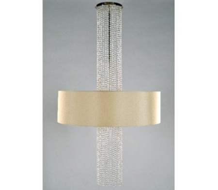 Waterfall Chandelier – by: Zia-Priven, Inc -Satin Brass