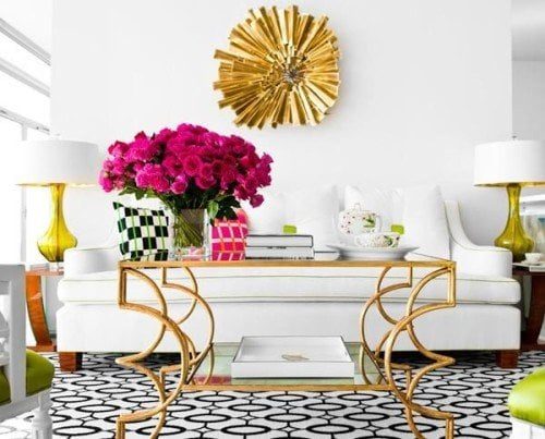 add gold finishes to make your room sparkle
