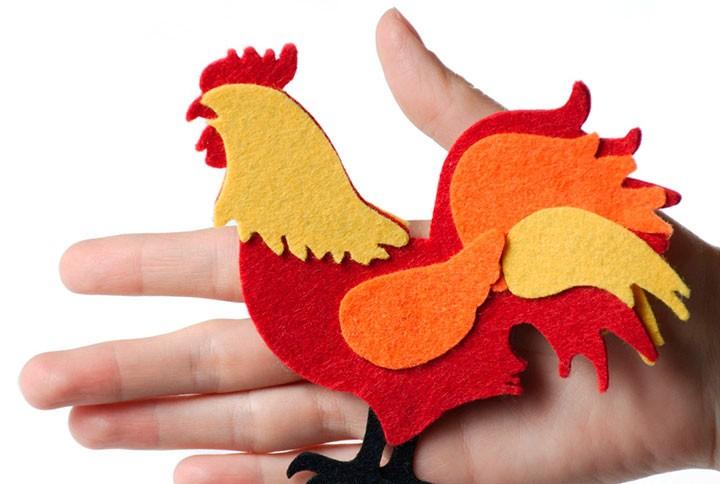 大晦日のためのCalp Rooster:あなた自身の手での応援をする10の方法+写真