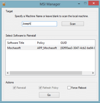 ReInstall Applications Deployed Through Group Policy Software Installation
