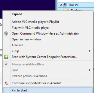 Custom Windows 8 Start Screen with Group Policy and MDT
