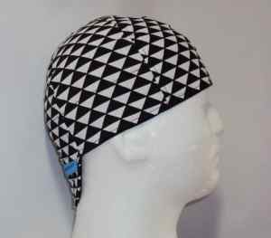 White And Black Triangles Welding Hat