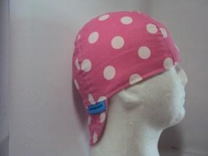 Polka Dots White On Lt Pink Welding Hat