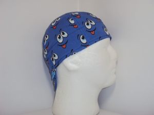 Fun Smiley Blue Welders Cap ©