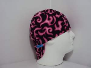 Pink Flame Welding Hat