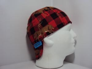 Deer Buffalo Plaid Welding Cap
