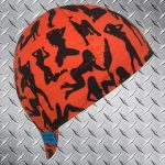 Blaze Orange Silhouettes Welding Cap ©