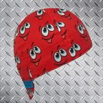 Fun Smiley Red Welders Cap ©