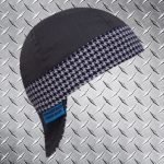 Hounds Tooth Purple Band Welding Hat