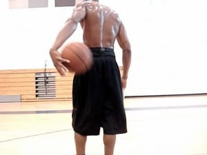 Slow-Mo Move- In & Out Crossover Quick-Behind Left Hand Layup - Dre Baldwin