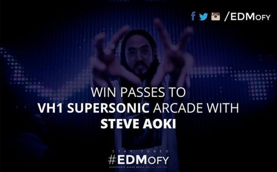 win passes to Vh1 Supersonic Arcade with Steve Aoki