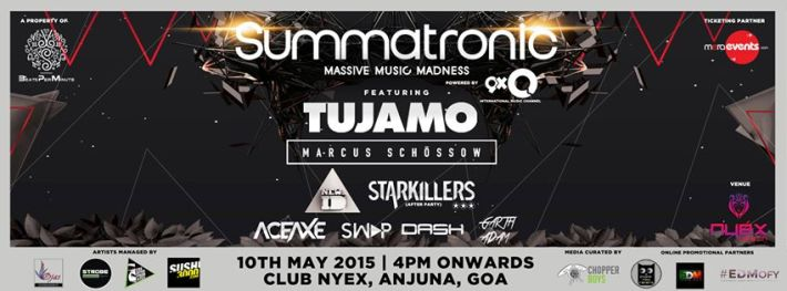 Summatronic Goa 2015 Full Line up