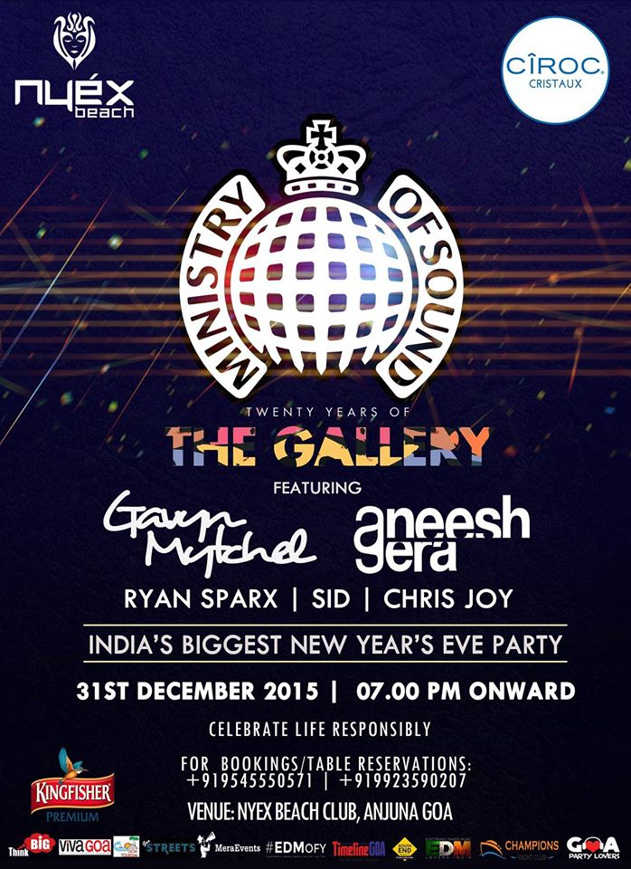Ministry of Sound NYE 2016 Lineup !