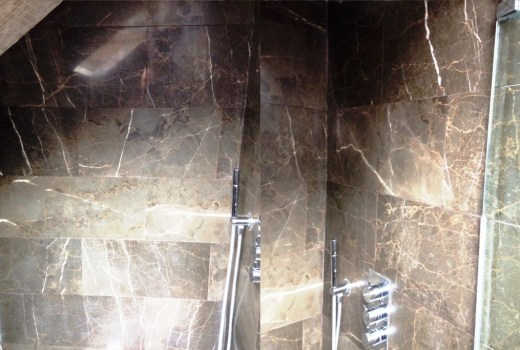 Limescale removed from Marble Shower Tiles Addlestone