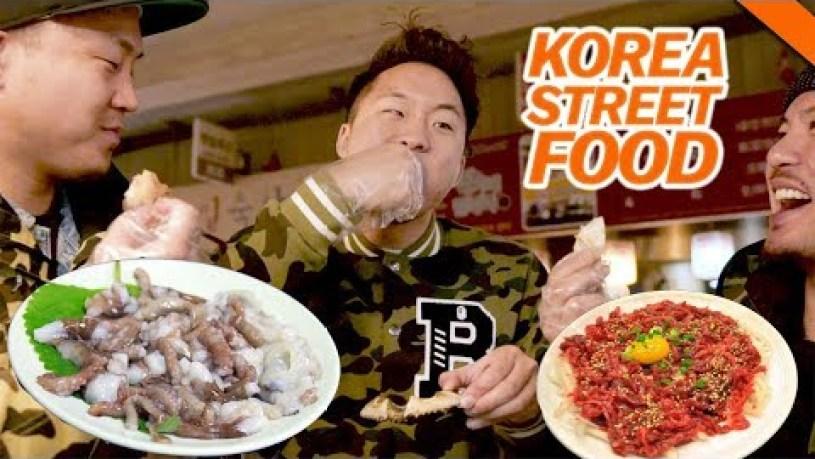 EATING LIVE OCTOPUS & OTHER WEIRD KOREAN STREET FOOD AT GWANGJANG MARKET -SEOUL