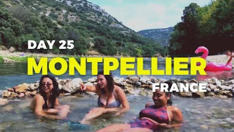 Montpellier River & Beach Club Follies - 04 Aug 2018   France Vlog   Travel Diary S01
