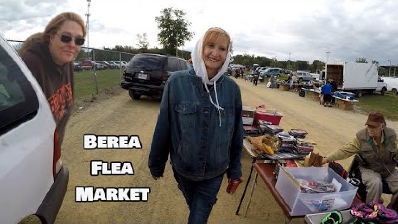 Selling and Perusing at The Flea Market