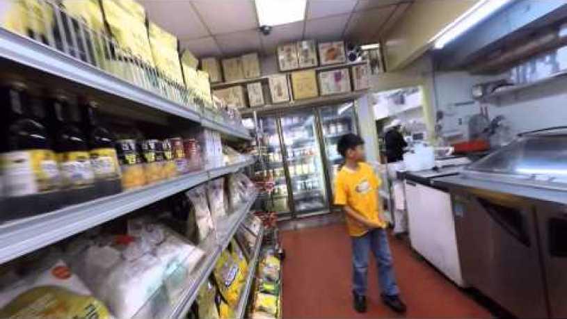 Buying Korean food at First Korean Market at Geary Blvd