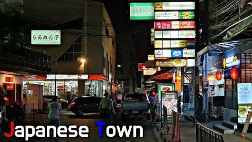 Japanese Town in Bangkok, Thailand | Sukhumvit 33/1 at Night [4K 60fps]