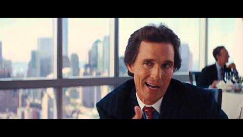 Wolf Of Wallstreet Matthew McConaughey [FULL SCENE] [HD]