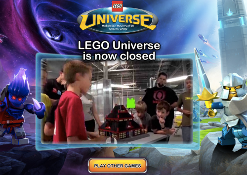 Lego Universe is Now Closed