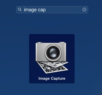 Search for Image Capture in Launchpad