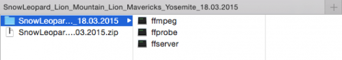 ffmpeg for Mac files