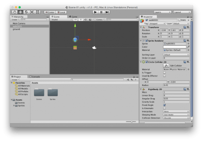Unity 5 2D Platform Game Development (Mac), Part 01 Sprites Collision RigidBody2D