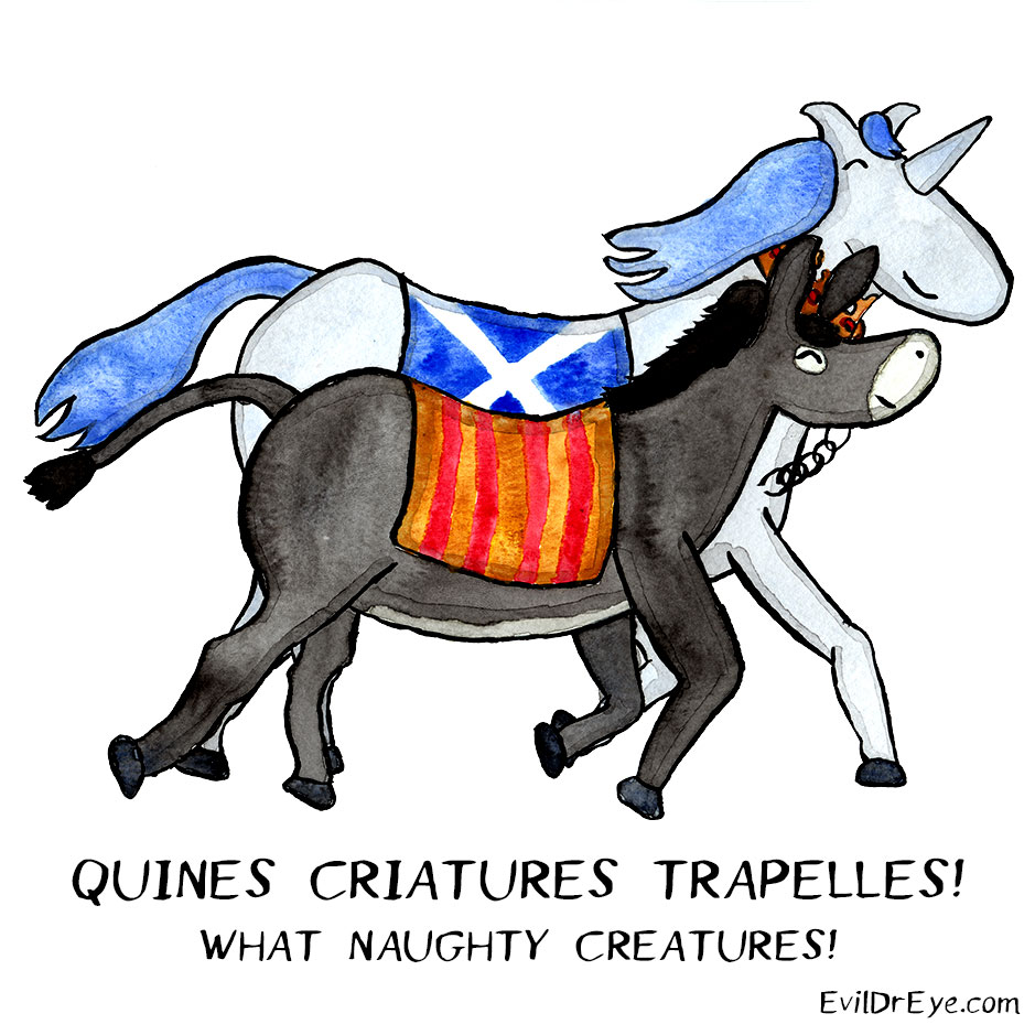 Quines criatures trapelles! - What Naughty Creatures!