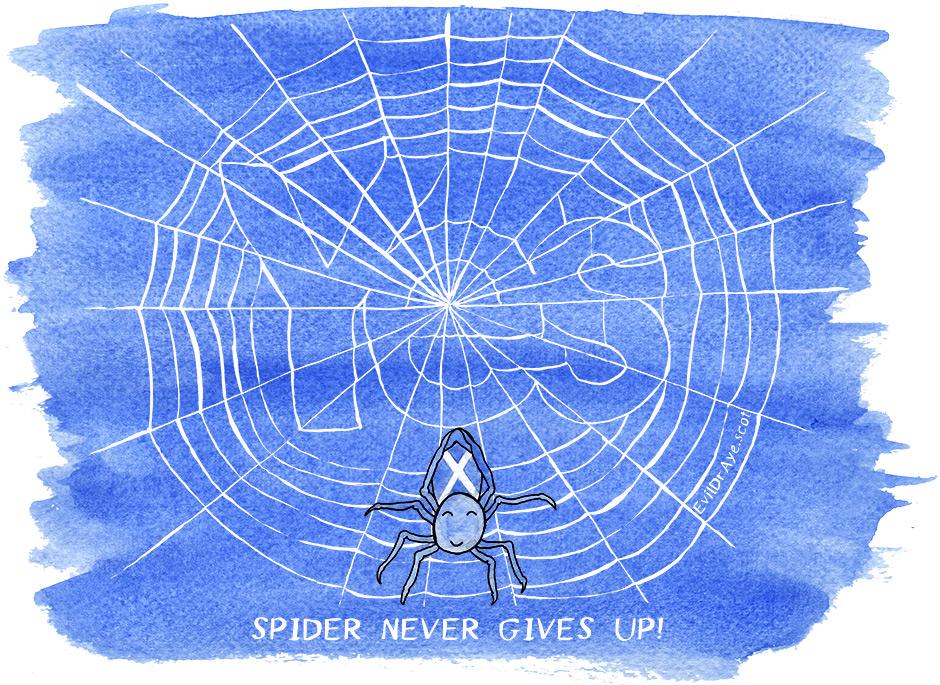 Spider (watercolour)