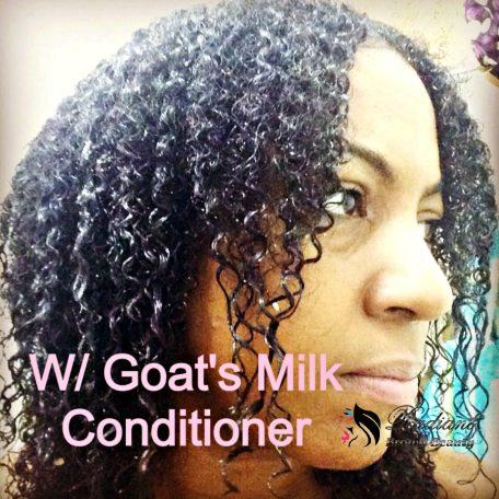 goat's milk conditioner in hair