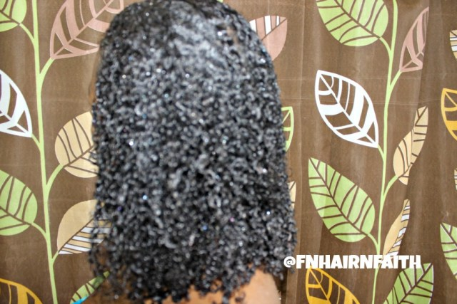 elongated wash and go curls