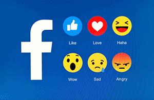 réactions facebook