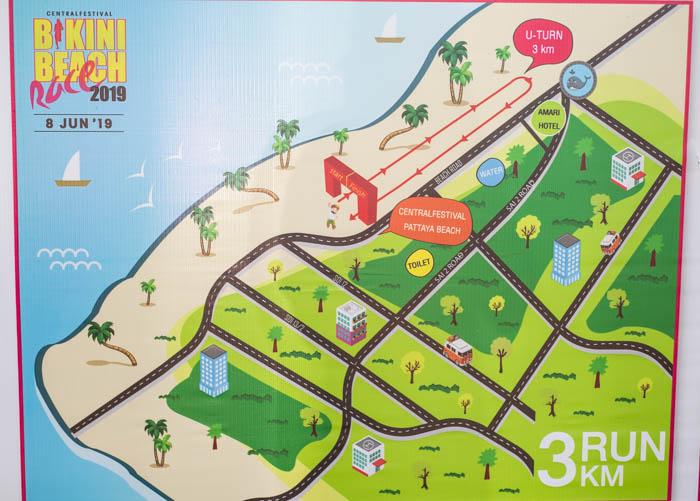 Карта маршрута забега на 3 километра